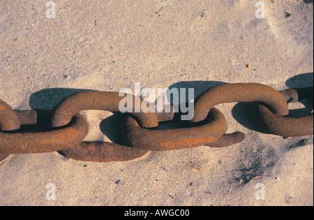 Eine gebrochene Glied in einer Kette - Stockfoto