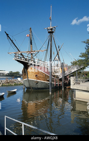 USA, Ohio, Columbus, Nachbildung des Christopher Columbus Flaggschiff Santa Maria - Stockfoto