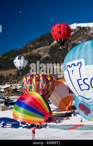 Chateau d ' Oex International Ballons Festival der Schweiz - Stockfoto