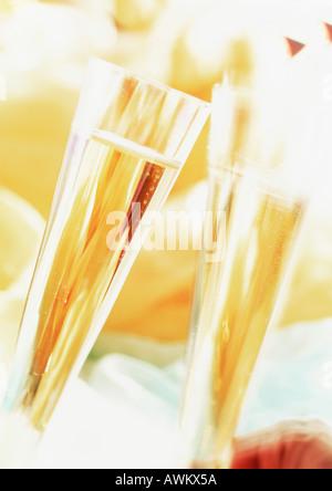 Champagner im Glas, Nahaufnahme - Stockfoto