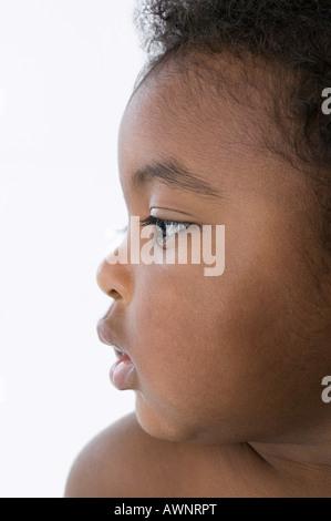 Gesicht eines Babys - Stockfoto