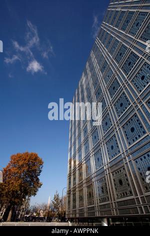 Institut du Monde Arabe Gebäude, Quartier Latin, Paris, Frankreich, Europa - Stockfoto