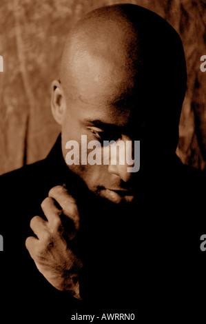 Porträt eines schweren schwarzen Mann - Stockfoto