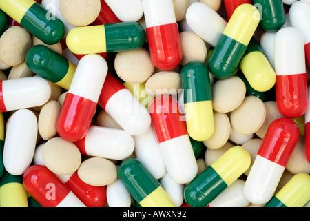 Nahaufnahme von Arzneimitteln - Stockfoto