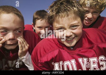 Eine Gruppe von jungen Fußballspielern - Stockfoto