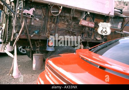 Hillbilly-Stil LKW geparkt am Straßenrand in den USA - Stockfoto