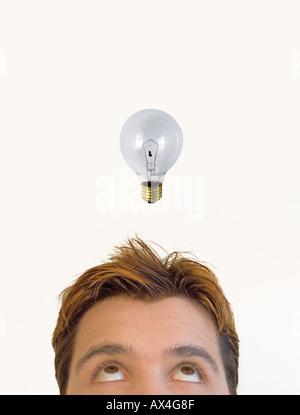 Mann mit einer Idee - Stockfoto