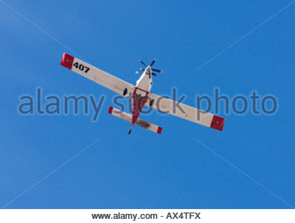 Luft in 802 TRAKTORSITZ Single Motor Antenne Tanker im Flug fliegen Arizona - Stockfoto