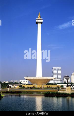 Nationaldenkmal in Jakarta Indonesien Merdeka Square - Stockfoto