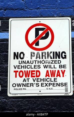 Kein Parkplatz-Schild - Stockfoto