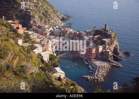 Italien, Ligurien, Vernazza - Stockfoto