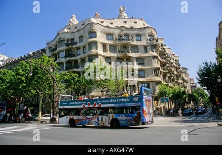 Barcelona, die Casa Mila - Stockfoto