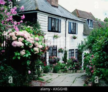 Kirche Passage Twitten Hastings Altstadt East Sussex England GB Vereinigtes Königreich - Stockfoto
