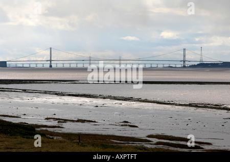 Die Severn Mündung, eine Meile weit Strecke von Wasser für den Severn Barrage vorgeschlagen. - Stockfoto