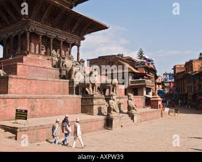 NYATAPOLA Tempel der Göttin Laxmi Taumadhi Tol Square-Bhaktapur-Kathmandu-Tal Nepal Asien - Stockfoto