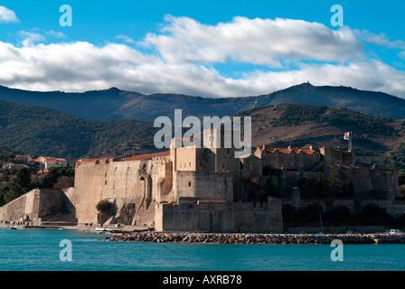 Chateau Royal Collioure Frankreich - Stockfoto