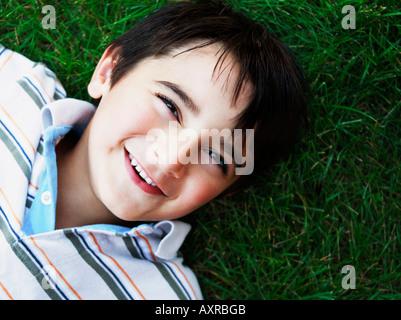 Junge, Lächeln - Stockfoto