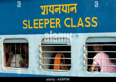 Schläfer Coach, Indian Railways, Indien - Stockfoto
