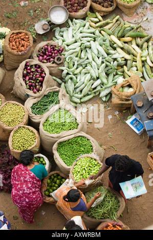 Über den Markt, Trivandrum, Kerala, Indien - Stockfoto