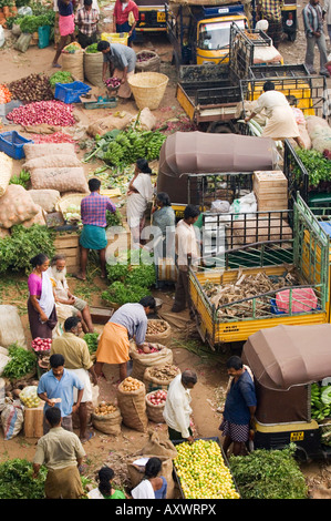 Am frühen Morgen Markt, Trivandrum, Kerala, Indien - Stockfoto