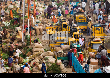 Markt, Trivandrum, Kerala, Indien - Stockfoto