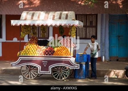 Im Quartier Latin von Panaji, früher bekannt als Panjim, Goa, Indien - Stockfoto