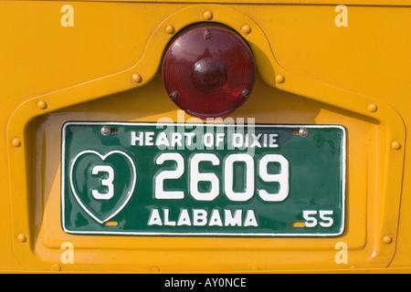 Kfz-Kennzeichen auf Rosa Parks Bus - Stockfoto