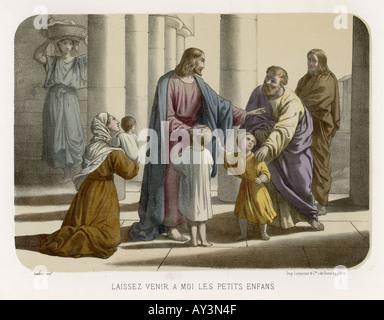 jesus segnet die kinder stockfoto, bild: 6563047 - alamy