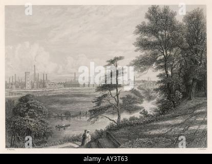 Burton On Trent in England - Stockfoto