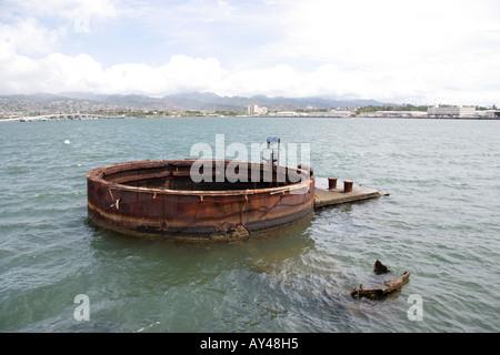 USS Arizona Memorial in Pearl Harbor Oahu Hawaii - Stockfoto