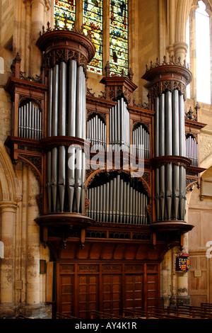 London Southwark Cathedral, die grosse Orgel - Stockfoto