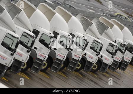 Tesco LKW bei Tesco Verkaufslager Livingston - Stockfoto