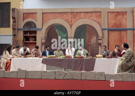 jesus an das letzte abendmahl mit seinen jüngern mit judas verlassen, um ihn zu betrügen