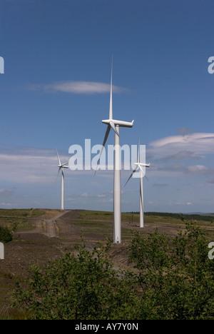 Windkraftanlagen in Windparks zur Stromerzeugung für einen Teil der Grafschaft-Korken, Irland - Stockfoto