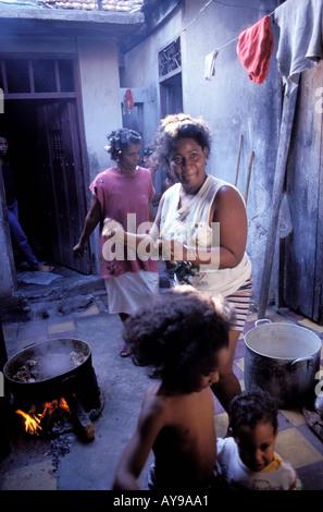 Familie Tivoli Bezirk Santiago De Cuba Kuba Mittelamerika - Stockfoto