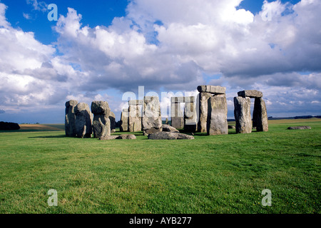 Antike Monument von Stonehenge in Wiltshire England - Stockfoto