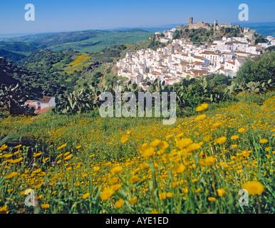 Casares Costa del Sol Malaga Provinz Spanien White Mountain Dorf im Hinterland - Stockfoto