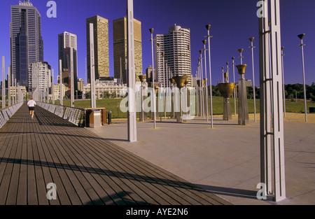 Birrarung Marr Park, Melbourne Australien, - Stockfoto