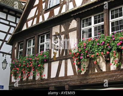 RENAISSANCE-FACHWERKHAUS 16.-17. Jahrhundert Viertel PETITE FRANCE Straßburg Elsass Frankreich - Stockfoto