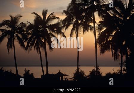 Candolim Strand Sonnenuntergang Goa Indien - Stockfoto