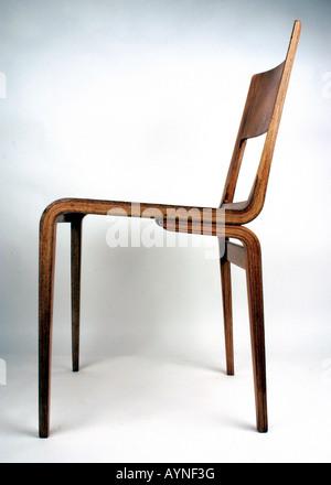 Hochwertig ... Einrichtung, Möbel, Stühle, Furnier Stuhl 50642, Von VEB Werkstaetten  Hellerau (VVB