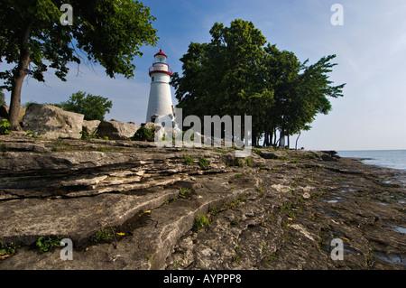 Marblehead Leuchtturm See Erie Marblehead Leuchtturm Staatspark Ohio - Stockfoto
