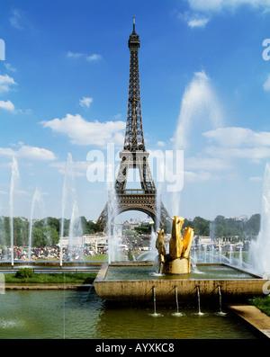 Eiffelturm in Paris - Stockfoto