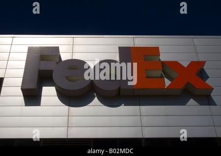FedEx Sortieranlage auf der West Side von Manhattan in New York City - Stockfoto