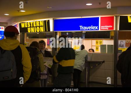 Western union geld transfer bürode Änderung in london uk stockfoto