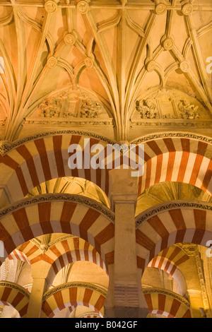 Schiffe der Almansur (Gänge von Almanzor) auf die Mezquita (-Moschee-Kathedrale), Córdoba, UNESCO-Weltkulturerbe - Stockfoto