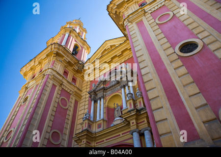 Iglesia de San Ildefonso (Kirche) im Viertel Santa Cruz, Stadt von Sevilla (Sevilla), Provinz Sevilla, Andalusien - Stockfoto