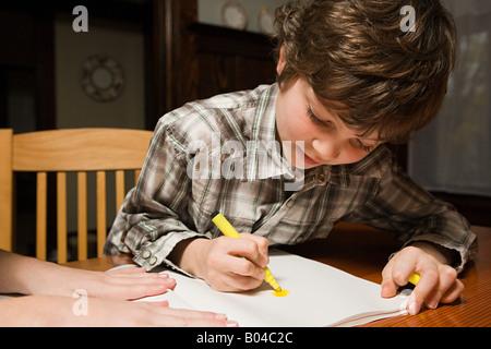 Ein Junge, Zeichnung Stockfoto
