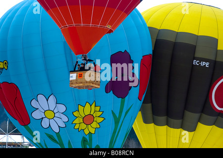 Heißluftballons, Internationale Ballonfestival in Château-d ' Oex, Waadt, Schweiz - Stockfoto