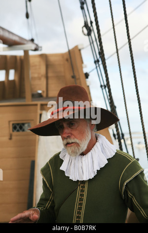 Mayflower II, Full Scale Replik Schiff, Plymouth, Massachusetts, Neuengland, USA - Stockfoto